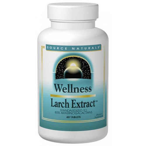 Source Naturals, Wellness, Larch Extract, 60 Tablets فوائد