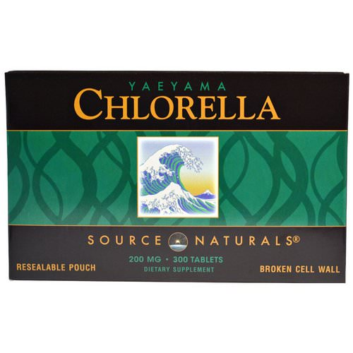 Source Naturals, Yaeyama Chlorella, 200 mg, 300 Tablets فوائد
