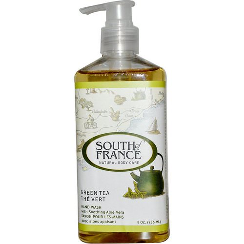 South of France, Green Tea, Hand Wash with Soothing Aloe Vera, 8 oz (236 ml) فوائد