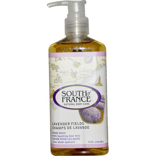 South of France, Lavender Fields, Hand Wash with Soothing Aloe Vera, 8 oz (236 ml) فوائد