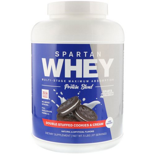Sparta Nutrition, Spartan Whey, Double Stuffed Cookies & Cream, 5 lbs فوائد