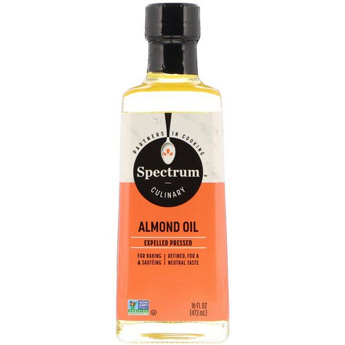 Spectrum Culinary, Almond Oil, Expeller Pressed, 16 fl oz (473 ml) فوائد