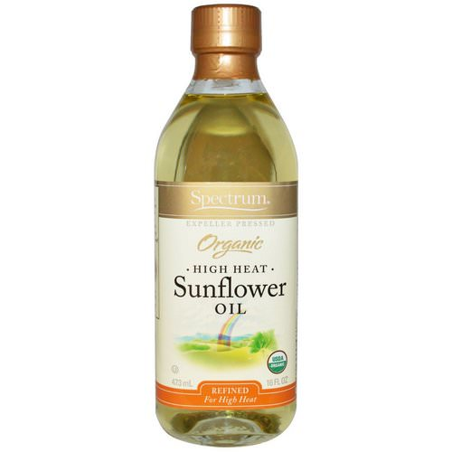 Spectrum Culinary, Organic High Heat Sunflower Oil, Refined, 16 fl oz (473 ml) فوائد