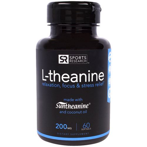 Sports Research, L-theanine, 200 mg, 60 Softgels فوائد