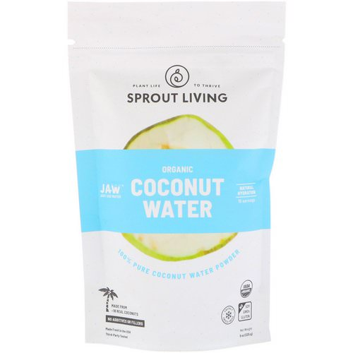 Sprout Living, Organic Coconut Water Powder, 8 oz (225 g) فوائد