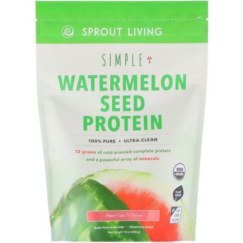 Sprout Living, Simple, Watermelon Seed Protein, 10 oz (288 g) فوائد