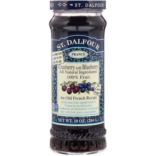 St. Dalfour, Cranberry with Blueberry Fruit Spread, 10 oz (284 g) فوائد