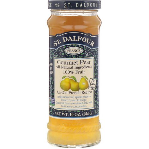 St. Dalfour, Gourmet Pear, 100% Fruit Spread, 10 oz (284 g) فوائد