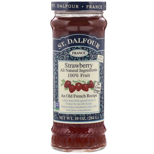 St. Dalfour, Strawberry, Deluxe Strawberry Spread, 10 oz (284 g) فوائد