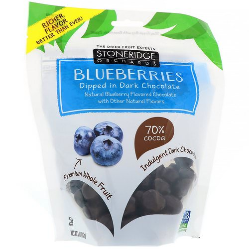 Stoneridge Orchards, Blueberries, Dipped in Dark Chocolate, 5 oz (142 g) فوائد