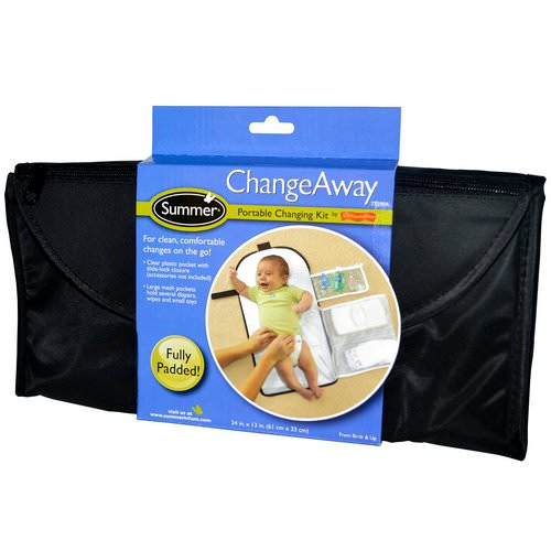 Summer Infant, ChangeAway, Portable Changing Kit, From Birth & Up, 24 in x 13 in (61 cm x 33 cm) فوائد