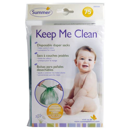 Summer Infant, Keep Me Clean, Disposable Diaper Sacks, 75 Count فوائد