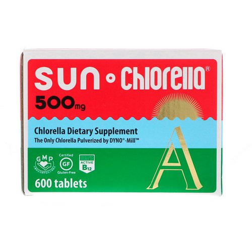 Sun Chlorella, Sun Chlorella A, 500 mg, 600 Tablets فوائد