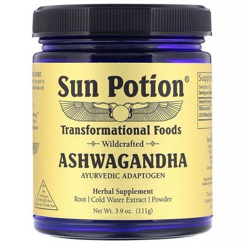 Sun Potion, Ashwagandha Powder, Wildcrafted, 3.9 oz (111 g) فوائد