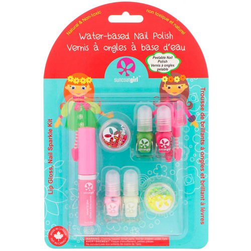 SuncoatGirl, Lip Gloss, Nail Sparkle Kit, 7 Piece Set فوائد