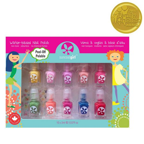 SuncoatGirl, Water-Based Nail Polish Kit, Party Palette, 10 Pieces فوائد