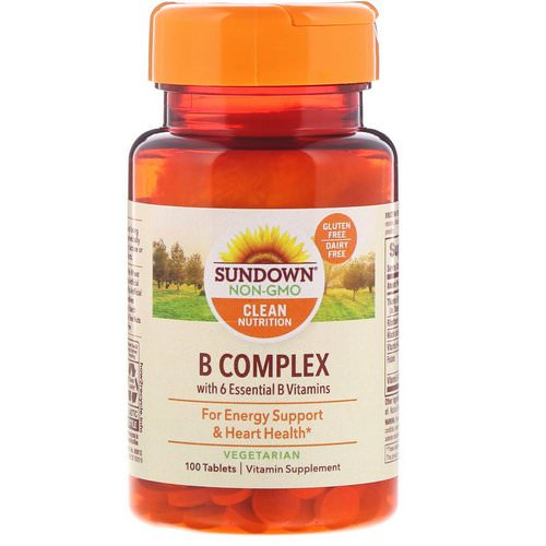 Sundown Naturals, B-Complex, 100 Tablets فوائد