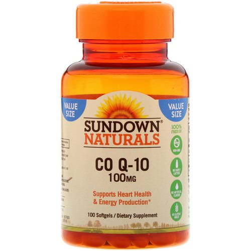 Sundown Naturals, Co Q-10, 100 mg, 100 Softgels فوائد