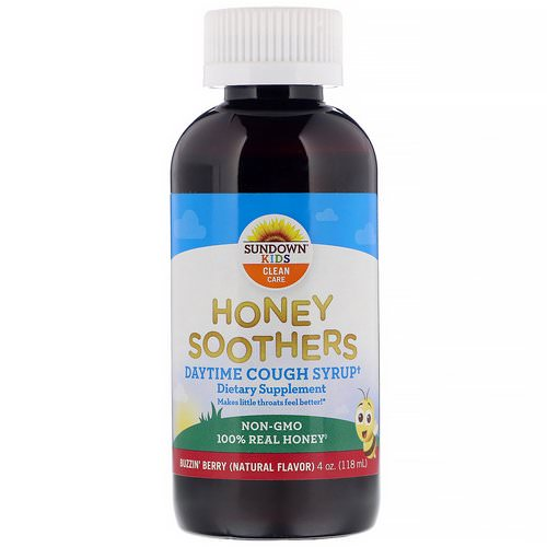 Sundown Naturals Kids, Honey Soothers, Daytime Cough Syrup, Buzzin' Berry, 4 oz (118 ml) فوائد