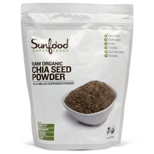 Sunfood, Chia Seed Powder, Raw Organic, 1 lb (454 g) فوائد