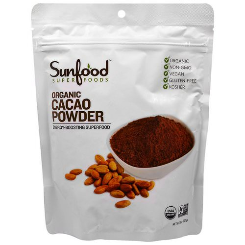 Sunfood, Organic Cacao Powder, 8 oz (227 g) فوائد