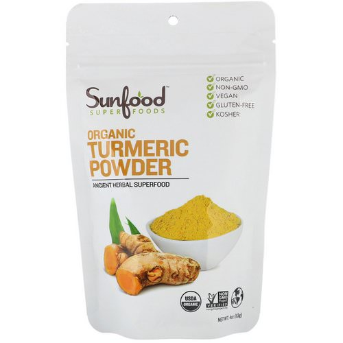 Sunfood, Organic Turmeric Powder, 4 oz (113 g) فوائد