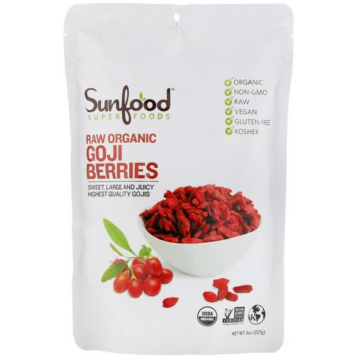 Sunfood, Raw Organic Goji Berries, 8 oz (227 g) فوائد
