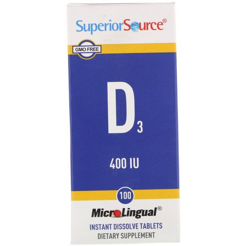 Superior Source, D3, 400 IU, 100 MicroLingual Instant Dissolve Tablets فوائد