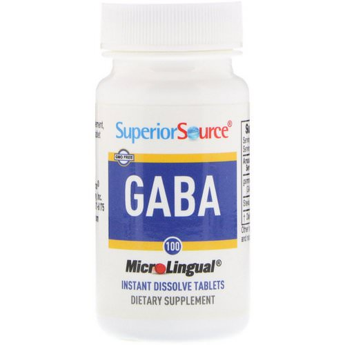 Superior Source, GABA, 100 mg, 100 MicroLingual Instant Dissolve Tablets فوائد