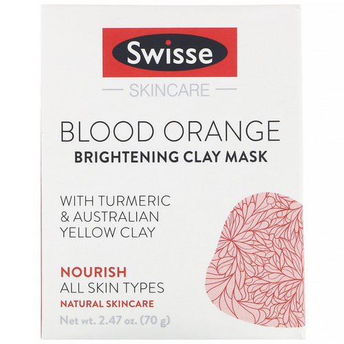 Swisse, Skincare, Blood Orange Brightening Clay Mask, 2.47 oz (70 g) فوائد