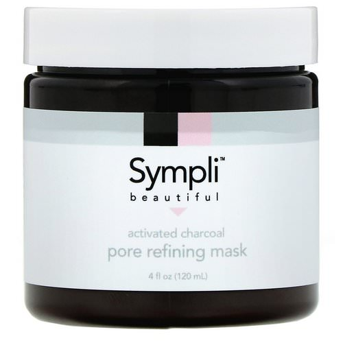 Sympli Beautiful, Activated Charcoal Pore Refining Mask, 4 fl oz (120 ml) فوائد
