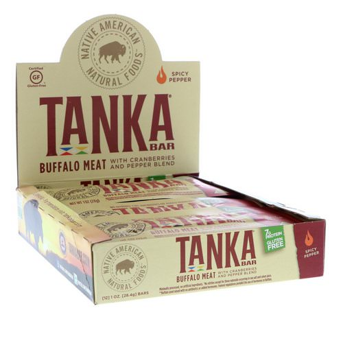 Tanka, Bar, Buffalo Meat with Cranberries and Pepper Blend, Spicy Pepper, 12 Bars, 1 oz (28.4 g) Each فوائد