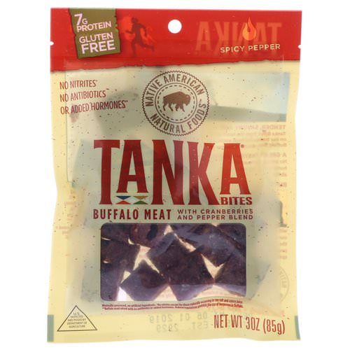 Tanka, Bites, Buffalo Meat with Cranberries and Pepper Blend, Spicy Pepper, 30 oz (85 g) فوائد