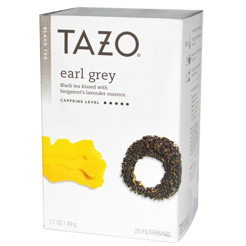 Tazo Teas, Earl Grey, Black Tea, 20 Filterbags, 1.7 oz (49 g) فوائد