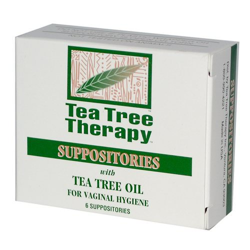 Tea Tree Therapy, Suppositories, with Tea Tree Oil, for Vaginal Hygiene, 6 Suppositories فوائد