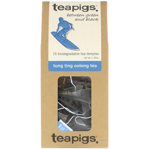 TeaPigs, Between Green and Black, Tung Ting Oolong Tea, 15 Tea Temples, 1.32 oz فوائد