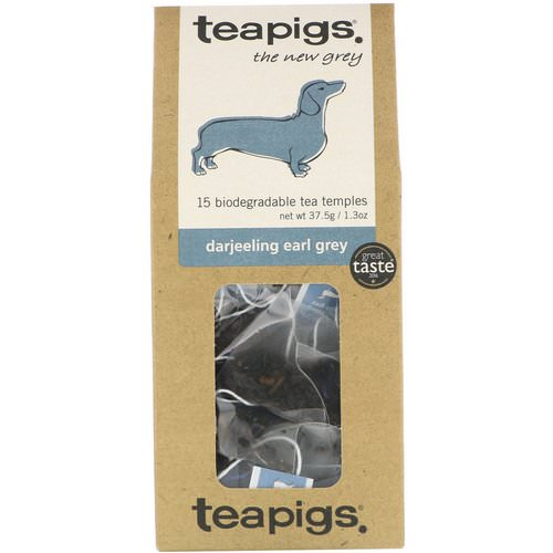 TeaPigs, The New Grey, Darjeeling Earl Grey, 15 Tea Temples, 1.3 oz (37.5 g) فوائد