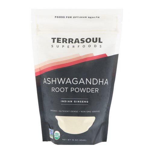Terrasoul Superfoods, Ashwagandha Root Powder, Indian Ginseng, 16 oz (454 g) فوائد