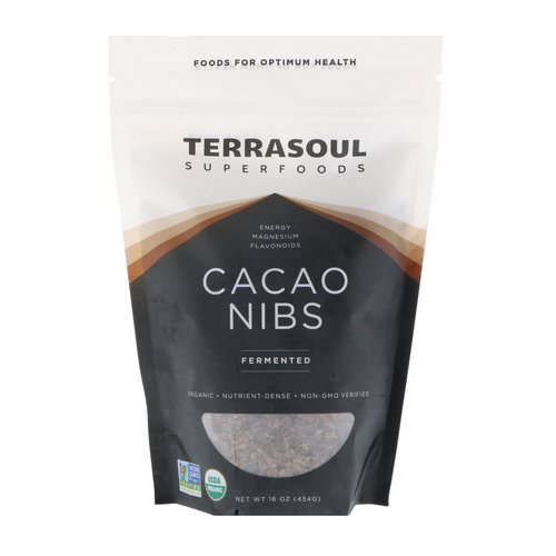 Terrasoul Superfoods, Cacao Nibs, Fermented, 16 oz (454 g) فوائد
