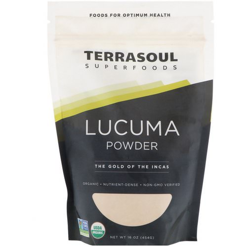 Terrasoul Superfoods, Lucuma Powder, The Gold Of The Incas, 16 oz (454 g) فوائد