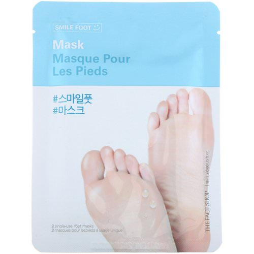 The Face Shop, Smile Foot Mask, 2 Single-Use Foot Masks فوائد