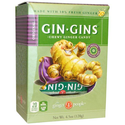 The Ginger People, Gin · Gins, Chewy Ginger Candy, 4.5 oz (128 g) فوائد
