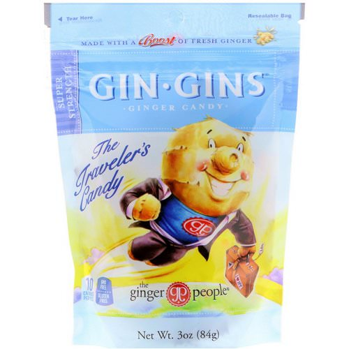 The Ginger People, Gin Gins, Ginger Candy, Super Strength, 3 oz (84 g) فوائد