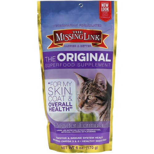 The Missing Link, The Original Superfood Supplement, Powder Formula, For Cats, 6 oz (170 g) فوائد
