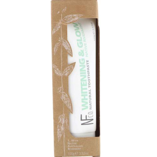 The Natural Family Co, Whitening & Glow Natural Toothpaste, Native Rivermint, 3.52 oz (100 g) فوائد