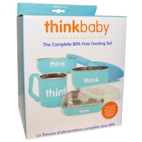 Think, Thinkbaby, The Complete BPA-Free Feeding Set, Light Blue, 1 Set فوائد