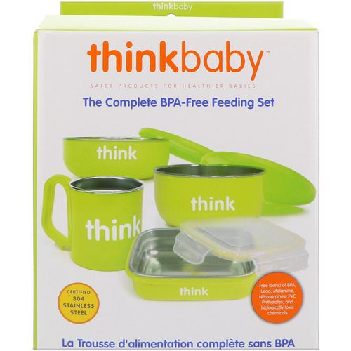 Think, Thinkbaby, The Complete BPA-Free Feeding Set, Light Green, 1 Set فوائد