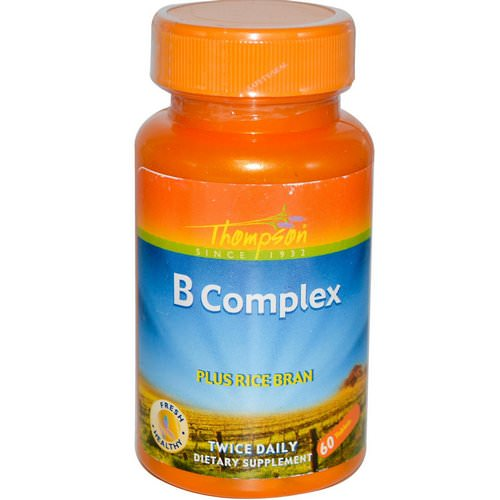 Thompson, B Complex, Plus Rice Bran, 60 Tablets فوائد