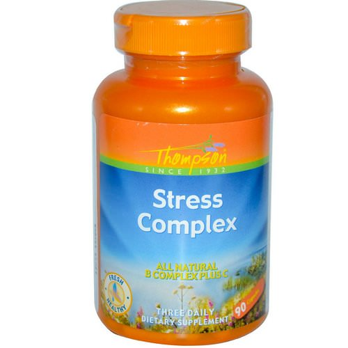 Thompson, Stress Complex, 90 Capsules فوائد