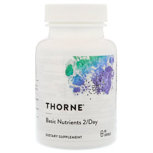 Thorne Research, Basic Nutrients 2/Day, NSF Certified for Sport, 60 Capsules فوائد